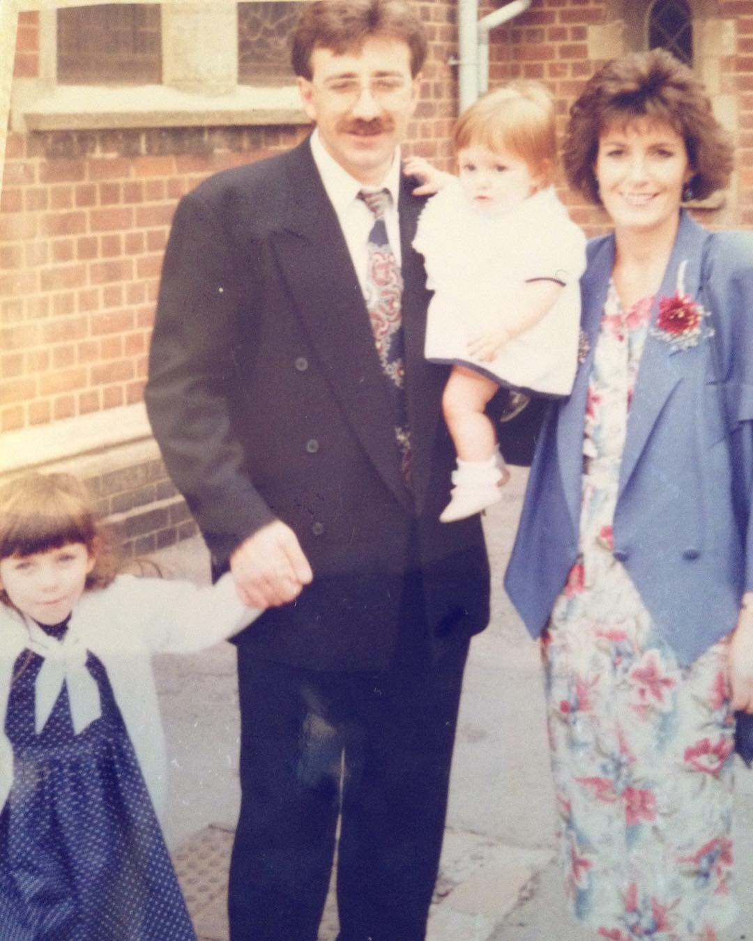 'It's in the family': Where it all began. Family is everything to me, Left to right: Kelly, (my big sister and founder of The Bees Knees.co); Tony my Dad and friend, or 'BIG TONE' as many local friends know him as; myself Emma; and finally my ever beautiful Mum, Jenny.